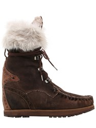 El Vaquero 70Mm Leia Lapin Fur And Suede Ankle Boots
