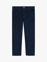 Jaeger Five Pocket Corduroy Trousers Navy