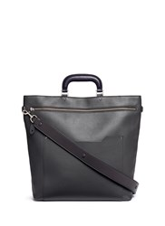Anya Hindmarch 'Orsett' Patch Organiser Leather Tote Bag Grey