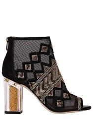 Katy Perry 90Mm Nakano Studded Mesh And Suede Boots