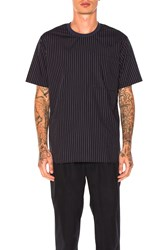 Maiden Noir Stripe Crew Shirt Navy