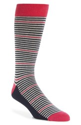 Ted Baker Men's London Pinstripe Socks Deep Pink