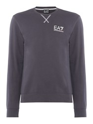 Emporio Armani Men's Ea7 Train Core Id Crew Neck Cotton Jumper Charcoal