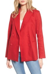 Leith Double Breasted Blazer Red Couture