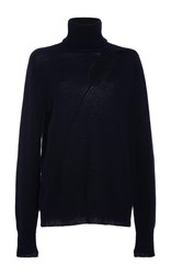 A.L.C. Billy Cutout Turtleneck Sweater Navy