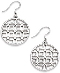 Charter Club Silver Tone Round Filigree Drop Earrings Only At Macy's