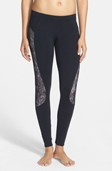 Solow Lace Inset Leggings Online Only Black Ballet