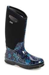 Women's Bogs 'Winterberry' Waterproof Snow Boot With Cutout Handles Blue Multi