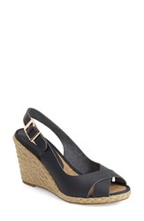 Women's Dune London 'Kia' Sandal Navy Leather