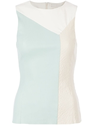 Drome Contrast Panelled Top White