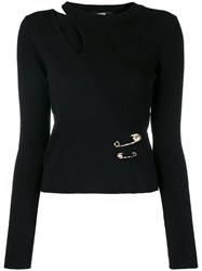 Versus Cut Out Fitted Sweater Black