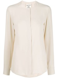 Semicouture Round Neck Concealed Button Shirt 60