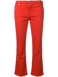 Love Moschino Cropped Flare Jeans Red