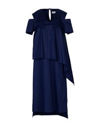 Malloni Knee Length Dresses Dark Blue