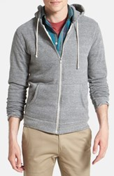 Threads For Thought 'S Trim Fit Heathered Hoodie Heather Grey