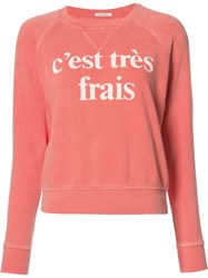 Mother C'est Tres Frais Sweatshirt Yellow Orange