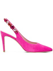 Kennel Schmenger And Embellished Slingback Pumps Pink