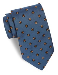 Brooks Brothers Classic Floral Neat Tie Blue