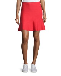 Grey By Jason Wu Knit Fit And Flare Miniskirt Red