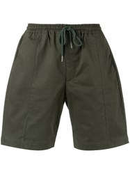 Egrey Drawstring Bermuda Shorts Men Cotton 44 Army Green
