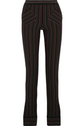 J.W.Anderson Striped Cotton Crepe Skinny Pants Black