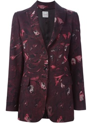 Eggs Printed Blazer Pink And Purple