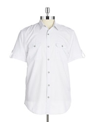 Dkny Textured Short Sleeve Sportshirt White