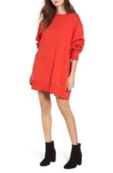 Tommy Jeans X Gigi Hadid Sweatshirt Dress Flame Scarlet