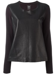 Majestic Filatures Leather Panel Top Black