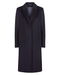 Jaeger Wool A Line Coat Navy