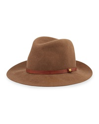 Rag And Bone Rag And Bone Floppy Brim Wool Fedora Hat Pecan