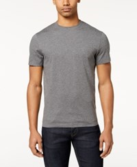 Club Room Men's Performance T Shirt Created For Macy's Charcoal Heather