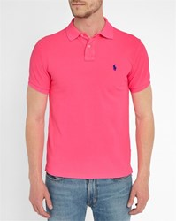 Polo Ralph Lauren Neon Pink Slim Fit Polo Shirt