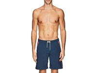 Solid And Striped Contrast Pockets Board Shorts Navy