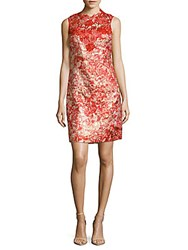 T Tahari Lily Floral Sleeveless Dress Punch