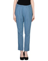 Soho De Luxe Trousers Casual Trousers Women Pastel Blue