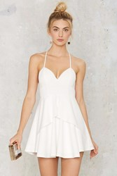 Nasty Gal Spin Me Round Plunging Dress White