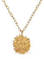 Acheval Pampa Leo Charm Long Necklace Gold