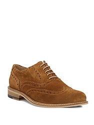 Bugatchi Suede Wing Tip Oxfords Maple