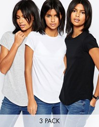 Asos The Ultimate Crew Neck 3 Pack Save 15 Black