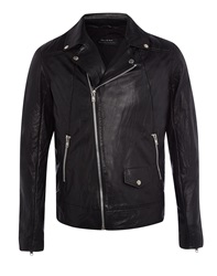 Religion Perforated Cutter Biker Jacket