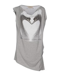 Just For You Topwear T Shirts Women Light Grey