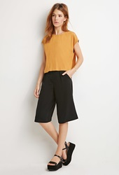 Forever 21 Boxy Cap Sleeved Top Ginger