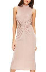 Missguided Women's Front Knot Midi Dress