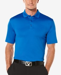 Callaway Men's Golf Performance Solid Golf Polo Magnetic Blue