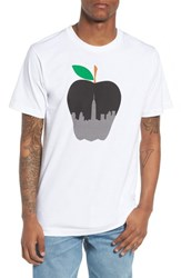 Casual Industrees Ny Apple Graphic T Shirt White