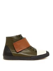 Marni Lace Up High Top Leather Trainers