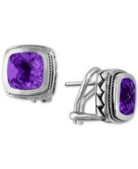 Effy Collection Balissima By Effy Amethyst Earrings 4 1 10 Ct. T.W. In 18K Gold And Sterling Silver