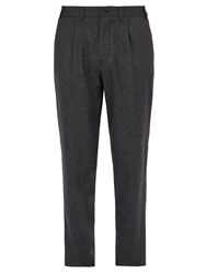 Altea Lincoln Relaxed Leg Wool Blend Trousers Charcoal