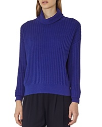 Reiss Clarisse Ribbed Turtleneck Sweater